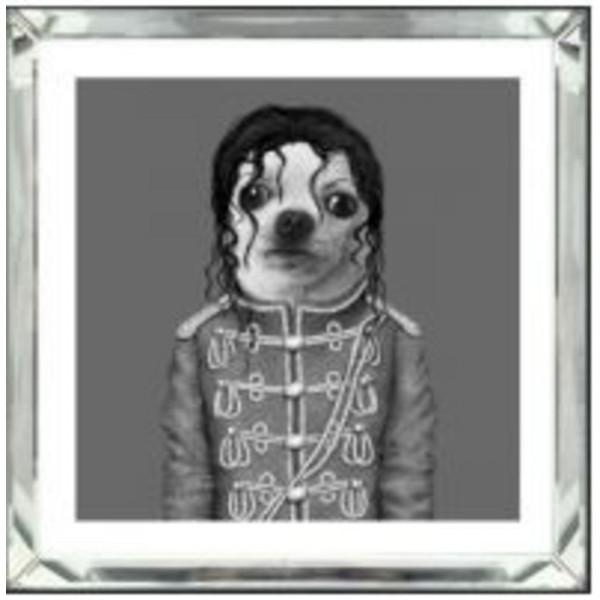 Image Frame Mirror King Dog 60x60