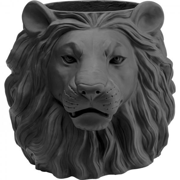 Deko Übertopf Lion Schwarz