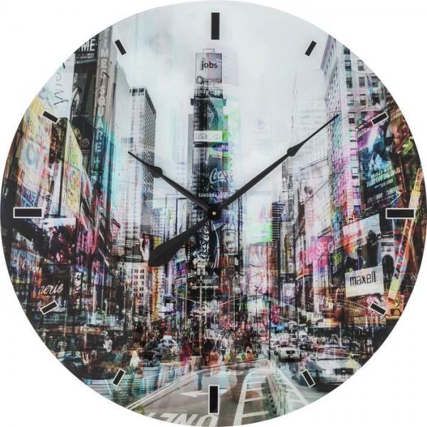 Wanduhr Glas Times Square Ø80cm