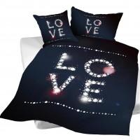 Bettwäsche LOVE 160x210 + Kissen 50x70