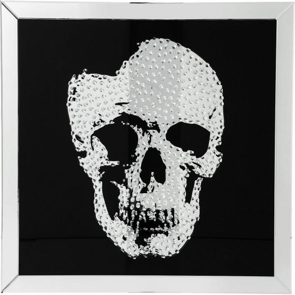 Bild Frame Mirror Skull 100x100cm