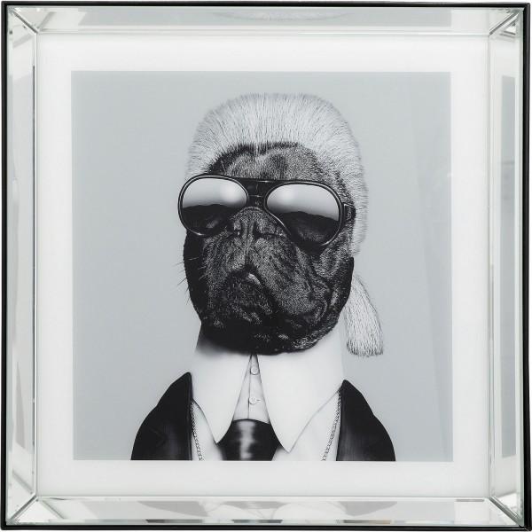Image Frame Mirror Designer Dog 60x60