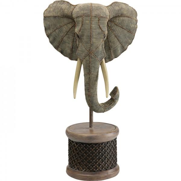 Deko Objekt Elephant Head Pearls 76