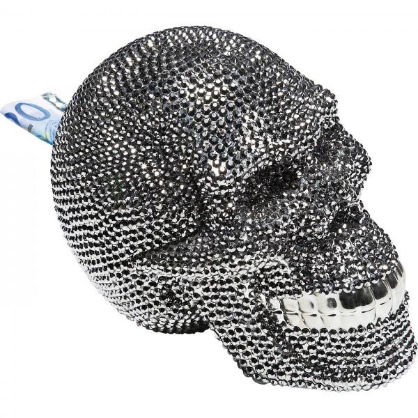 Skull Crystal Silver money box