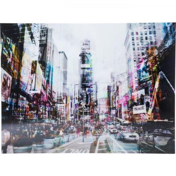 Bild Glas Times Square Move 70x90cm