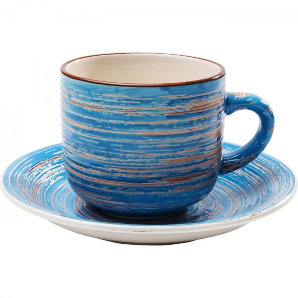 Kaffeetasse Swirl Blau (2/Set)
