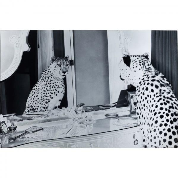 Bild Glas Metallic Gepard 100x150