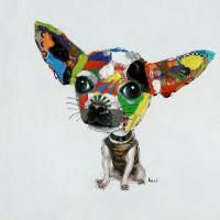 Acrylbild Chihuahua 50x50cm