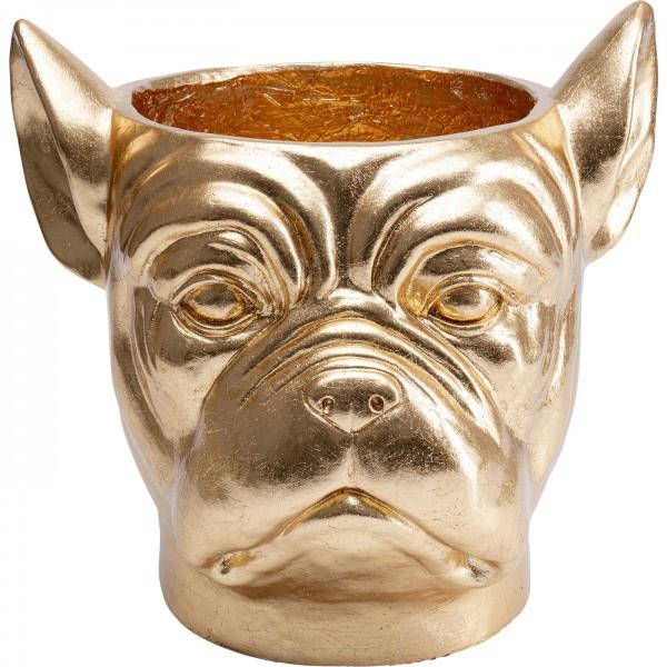 Decoration Planter Bulldog Gold