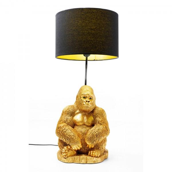 Table Lamp Animal Monkey Gorilla Gold