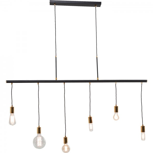 Suspension lamp Pole Black Six