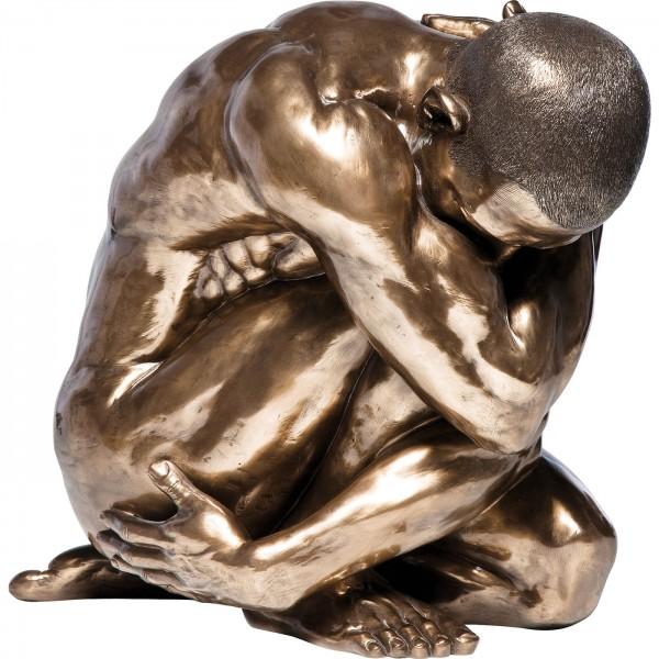 Deko Figur Nude Man Hug Bronze 54cm