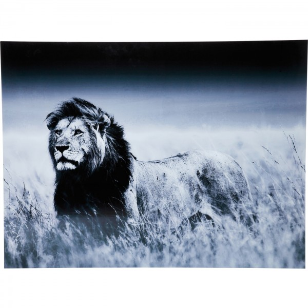 Picture Glass Lion King Standing 160x120cm
