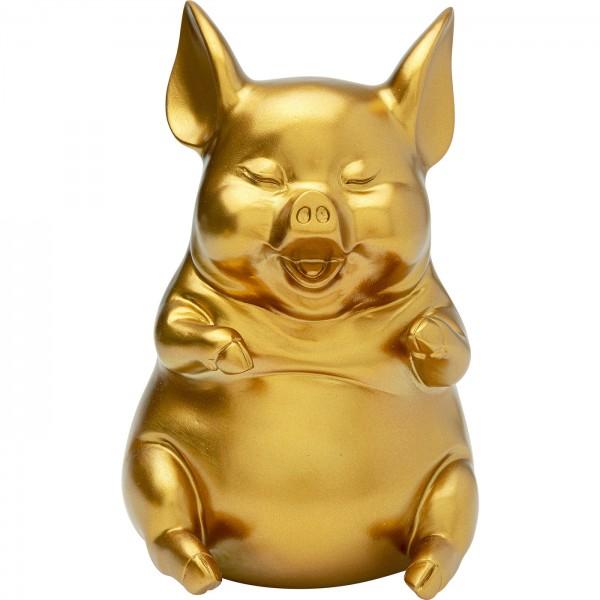 Money box Happy Pig Sitting Gold