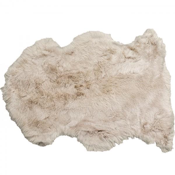 Peau d'agneau Heidi Gris 85x65cm