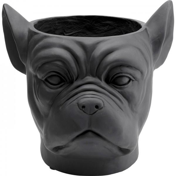 Pot de déco Bulldog noir