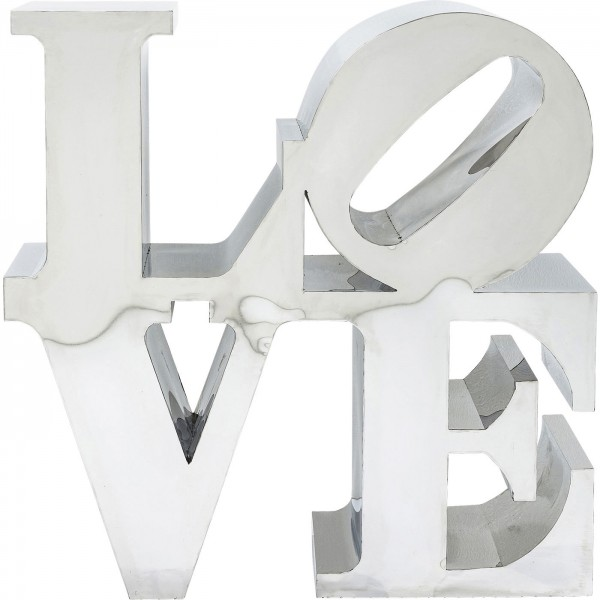 Decoration object LOVE stainless steel