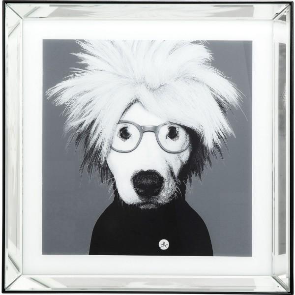 Bild Frame Mirror Artist Dog 60x60