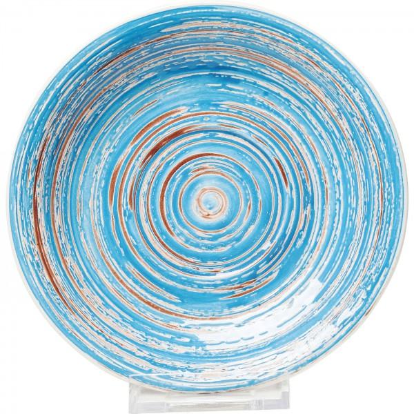 Assiette Swirl Bleu Ø19cm
