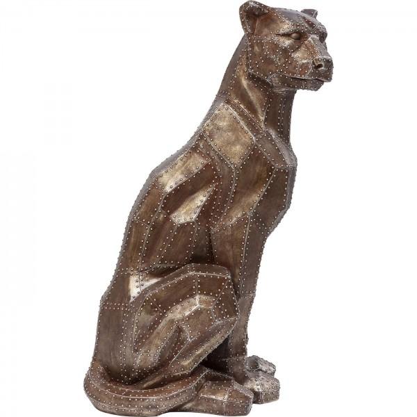 Deco Figure Sitting Cat Rivet Copper