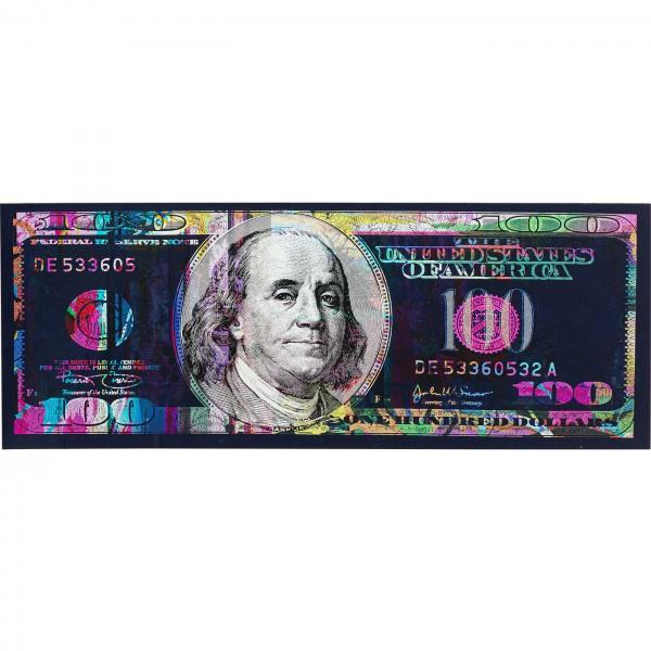 Picture Glass Metallic Dollar 200x80cm