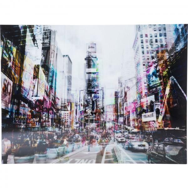 Bild Glas Times Square Move 160x120cm