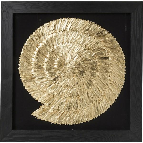 Decoration frame Golden Snail 120x120cm