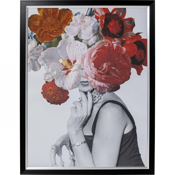 Image Frame Flower Lady 117x152