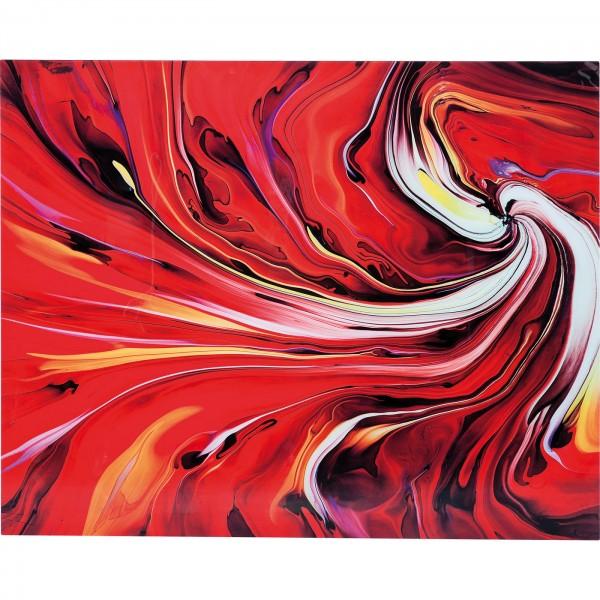 Bild Glas Chaos Fire 150x120cm