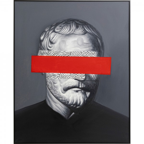 Oil painting Frame Incognito Philosophy 100x80