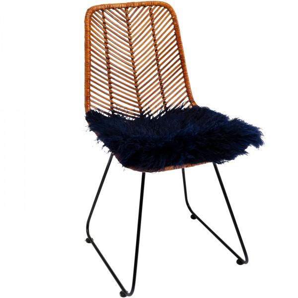 Seat pad Lambskin Blue 40x40