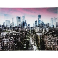 Bild Glas NY Skyline 120x160cm