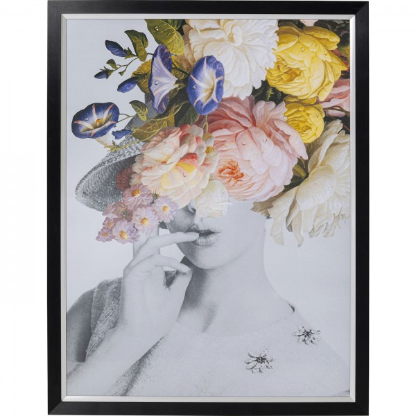 Bild Frame Flower Lady Pastell 152x117