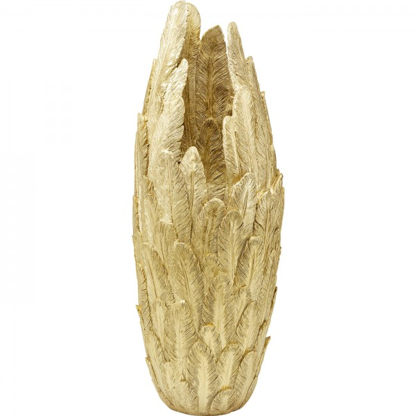 Vase Feathers Gold 80