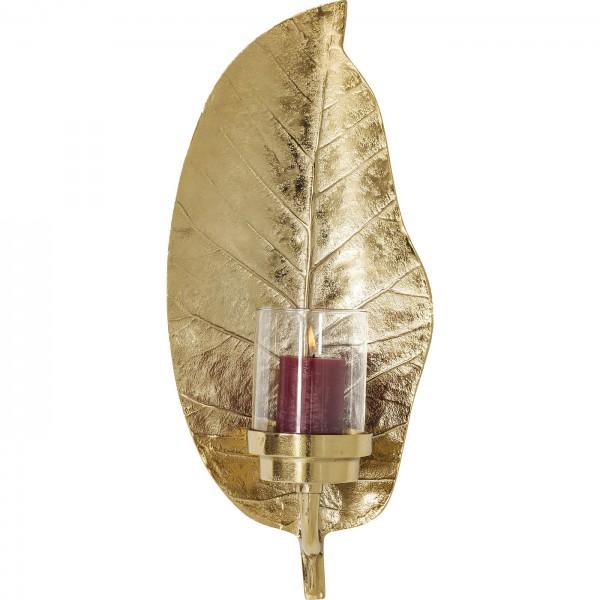 Windlicht Leaf Gold