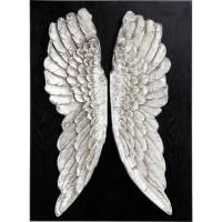 Wandschmuck Wings Silber 110x80cm
