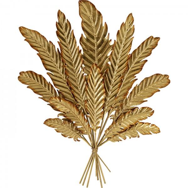 Wandschmuck Leaf Bouquet Gold