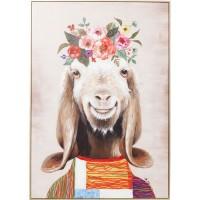 Bild Touched Flowers Goat 102x72cm