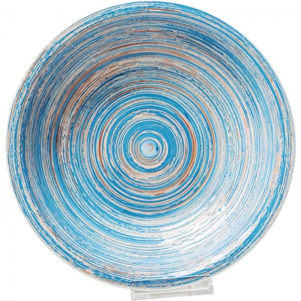 Assiette Profond Swirl Bleu Ø21cm