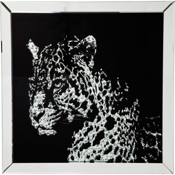 Image Frame Mirror Leopard 80x80cm
