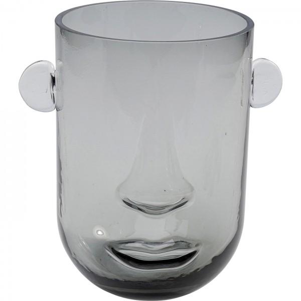 Vase Small Face Grey