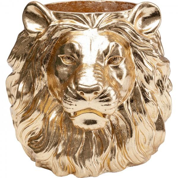 Decoration Planter Lion Gold