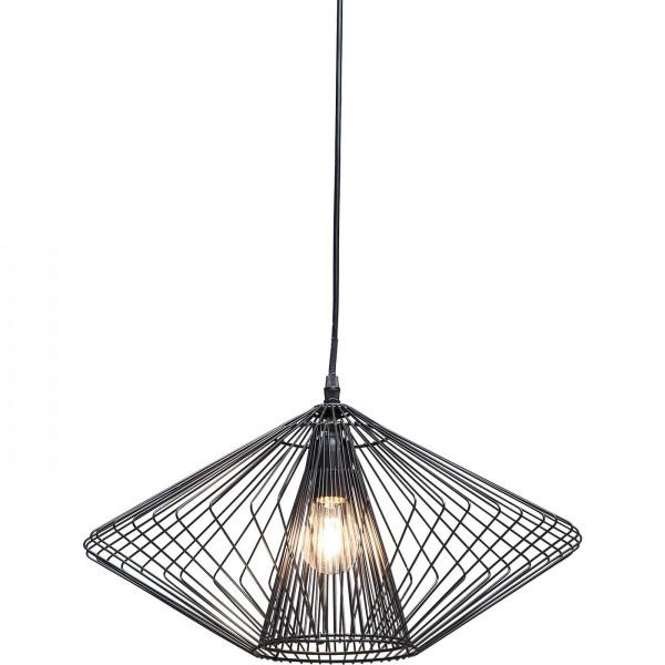 Lampe suspendue Modo Wire Round Noir