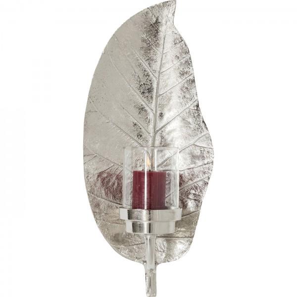 Windlicht Leaf Silber