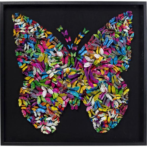 Cadre de décoration Farfalla 120x120cm