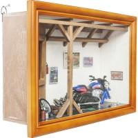 Deko Schaukasten Garage Motorbike