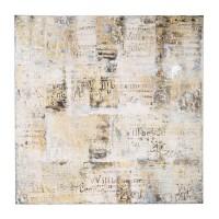 Ölbild Villa Letters 120x120 Sortiert