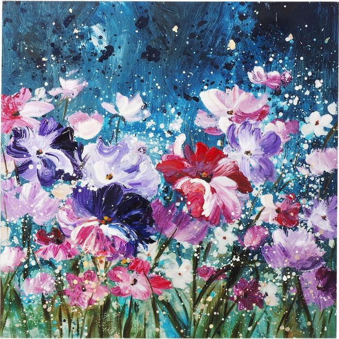 Ölbild Flower Garden 100x100cm