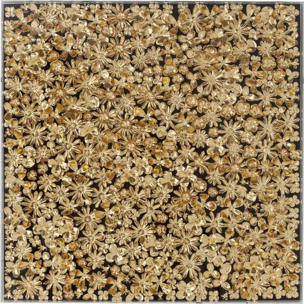 Cadre de décoration Or Flower 120x120cm