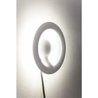 Wandleuchte Clip Round White LED